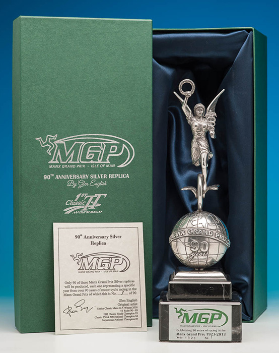 90TH ANNIVERSARY MANX GRAND PRIX SILVER REPLICA