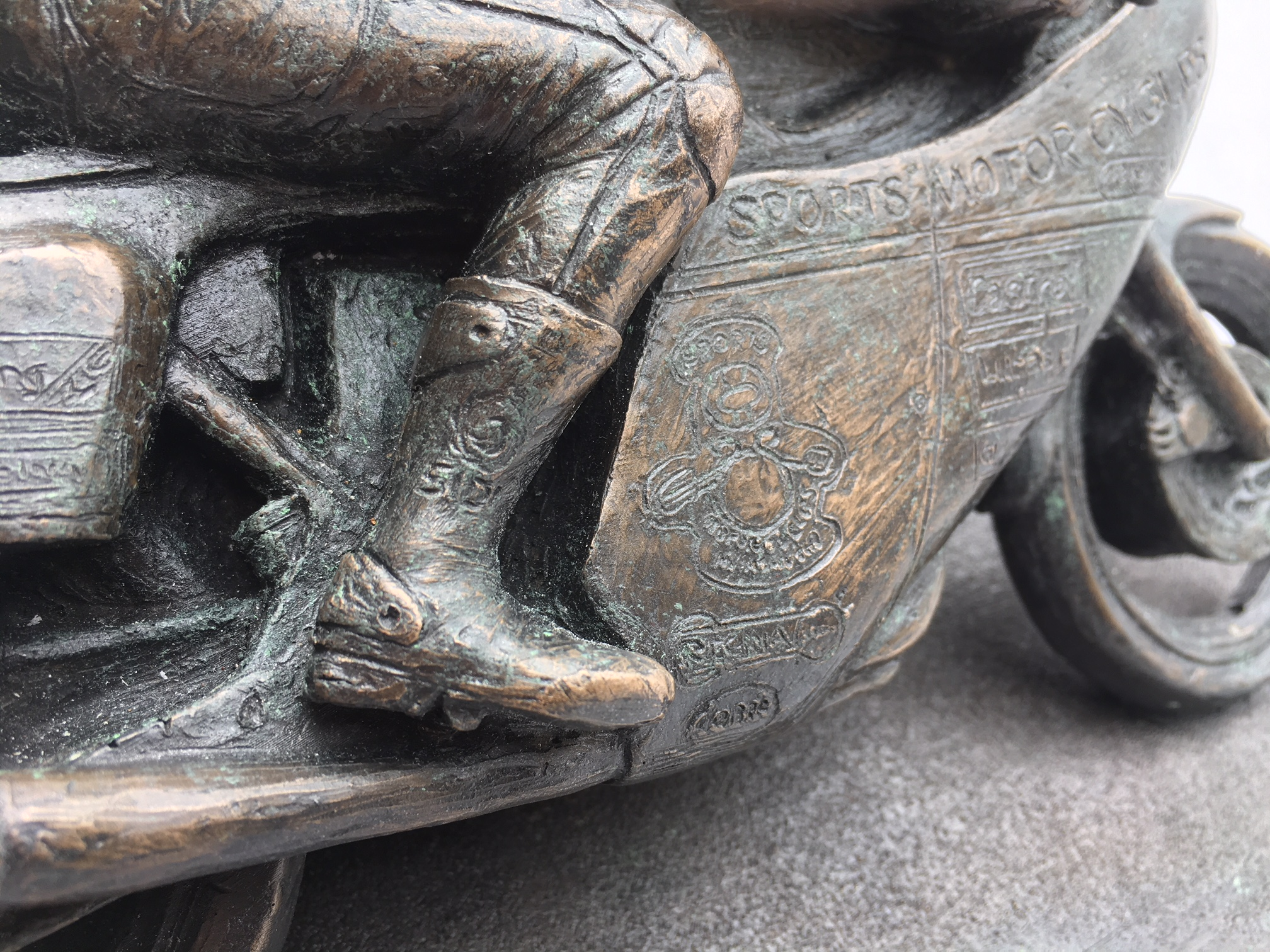 Mike Hailwood 40th Anniversary Bronze Sculpture