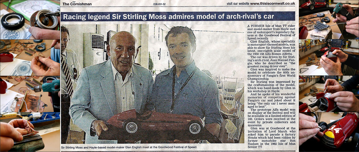 Glenn with Stirling Moss